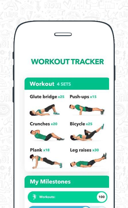 Home Fitness Workout by GetFit - No Equipment screenshot 1