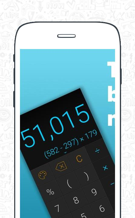 Stylish Calculator Free - CALCU™ screenshot 1
